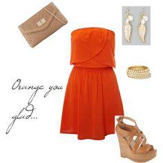 """orange love."" by mjmagallan on Polyvore"
