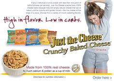 Just The Cheese Crunchy Baked Cheese Snacks