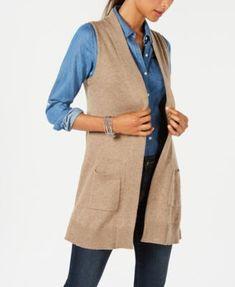 91f54fb6612 Karen Scott Open-Front Sweater Vest