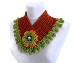 knitted neck warmer winter  handknittedgift by likeknitting, $22.99