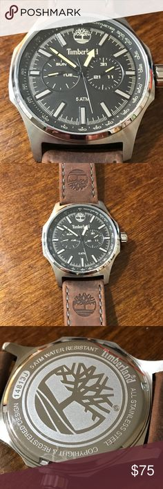 TIMBERLAND - Men's Chrono watch TIMBERLAND Men's Chrono warch - not used  or worn - the leather is rustic - scratches visible on the strap - great condition - any questions feel free to ask - reasonable offers please. Timberland Accessories Watches