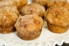 French Breakfast Puffs - AKA Snickerdoodle Muffins. Make mini muffins (bake for 12 minutes) - they are much better!!!  Make sure to heat these up before you eat them. Watch out - Addicting!!!!