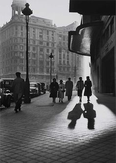 luzfosca:    Francesc Català Roca  Gran Vía, Madrid, 1953  Thanks to adanvc