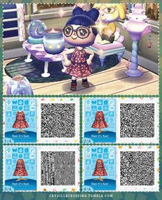 Modcloth inspired fashion ~ ❤️ ~ Bam it's Kam Dress Animal Crossing 3ds, Animal Crossing Qr Codes Clothes, Ac New Leaf, Happy Home Designer, Pet Clothes, Animal Clothes, Happy House, Animal Games, Funny Comics
