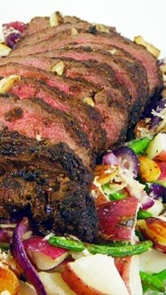Garlic Peppercorn London Broil (Thick Steak), LOADED with Garlic, and wet rubbed with a mustard spice rub (recipe included), then slow grilled for a delicious alternative for ANY Holiday meal! Inspired By eRecipeCards: 30 Garlic Peppercorn London Broil Meat Recipes, Dinner Recipes, Cooking Recipes, Healthy Recipes, Dinner Ideas, Healthy Food, Carne Asada, Beef Dishes, Recipes