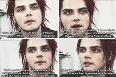 Gerard Way | quotes. This is why Danger Days is my favourite album, because unlike the others (which are still amazing) it's an album about hope. It's not about a new beginning or letting go of everything and it's not about anger of sadness,  it's about accepting the past and giving up negativity. I love Danger Days because it's different,  because it's happy, and because they were happy making it.