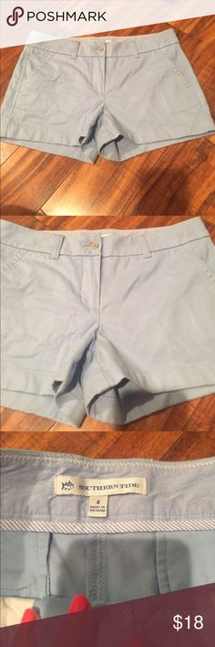 Southern Tide Shorts Size 4 Like new Southern Tide shorts size 4! Baby blue and super cute! Check out my closet too Southern Tide Shorts Bermudas