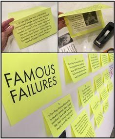 Famous failures, growth mindset bulletin