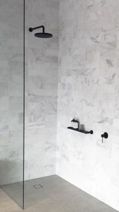Black Shower Fixtures Ideas For Your Modern Bathroom Laundry In Bathroom, Bathroom Renos, Grey Bathrooms, Modern Bathroom, Small Bathroom, Master Bathroom, Reece Bathroom, Bathroom Caddy, Bathroom Taps