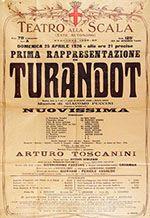 All about Turandot; Premiere Program from La Scala