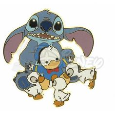 DISNEY PINS STITCH and DONALD DUCK Doll LE 500