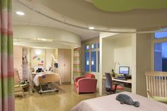 Double resident room, Elizabeth Seton Pediatric Center, Yonkers, N.Y. Copyright Chris Cooper.