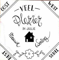 Nieuwe woning - Handlettering.