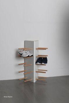 Shoe Rack and Shoe… Best Shoe Rack, Diy Shoe Rack, Shoe Storage, Shoe Racks, Paper Storage, Concrete Furniture, Diy Furniture, Furniture Design, Urban Furniture