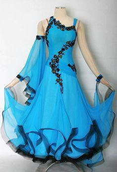 Ballroom Everday Watlz Tango Standard Dance Dress US 12 UK 14 Blue Black Color | eBay