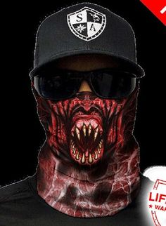 Fiend Monster Multi Purpose Face Shield Balaclava Bandana Neck Gaiter Sun Mask Neckerchief by VaderUnlimited on Etsy