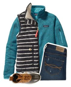 """Villanova¿"" by perfecly-equestrian ❤ liked on Polyvore featuring Patagonia, J.Crew, Abercrombie & Fitch and L.L.Bean"