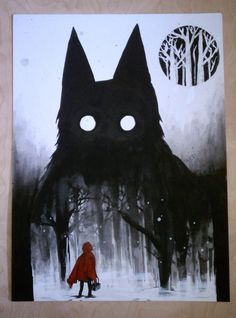 Inside the wolf by Jackie the Pirate on DeviantArt, Little red riding hood