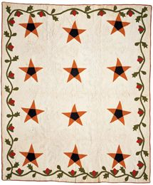 Texas Star Friendship Quilt, circa 1868   Hard to believe this quilt is almost150 yrs old ... the design just looks so much like today's