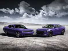 Hot Rod Art Dodge Challenger Hellcat Plum Crazy