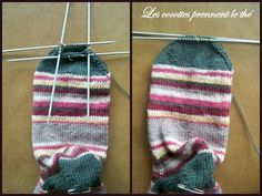 tuto_chaussette13 Owl Hat, Knitted Hats, Knit Crochet, Projects To Try, Winter Hats, Socks, Knitting, Diy, Crocheting