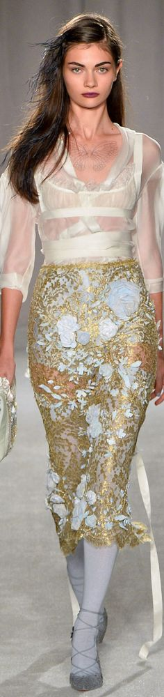 LOOKandLOVEwithLOLO: NYFW SPRING 2104 Ready-To-Wear.....MARCHESA