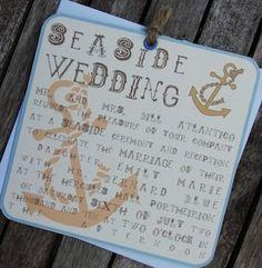 Seaside themed wedding stationery by Artcadia