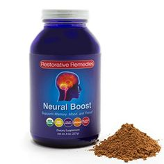Neural Boost | Organic Brain Food Supplement to Support Memory, Mood, and Focus | Natural Nootropic Powder | Great in Smoothies, Coffee, or Cereal | 29 Servings ** Read more info by clicking the link on the image. #BrainNutrition