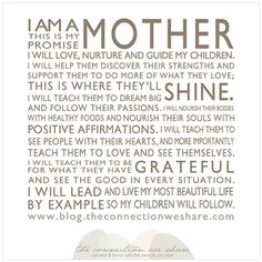 A Mother's Manifesto