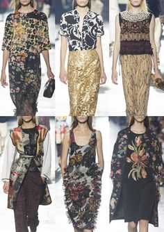 Dries Van Noten S/S 2014-Floral Overprints – Masked and Silhouetted Flowers – Botanical Engravings – Decorative Details – 3D Embroidery – Gold Baroque – Ethnic Melti...