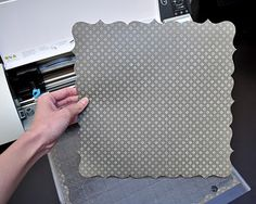 How to create edges on 12x12 paper with Silhouette Cameo by welding shapes - neat!