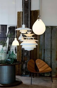 Design Holding: a project with B&B Italia, Flos and Louis Poulsen Interior Lighting, Home Lighting, Modern Lighting, Lighting Design, Pendant Lighting, Pendant Lamp, Deco Design, Lamp Design, Mid Century Lighting
