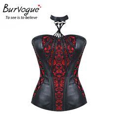 Burvogue 2017 new dimagrisce vita trainer corsetto overbust steampunk corsetti trainer corsetto over-busto in delle donne bustini & corsetti