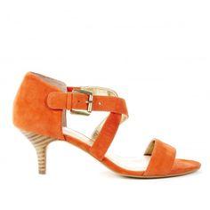 Kelby open toe sandal - Tangerine Tango