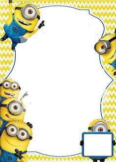 New minions invitation template Ideas Free Online Birthday Invitations, Minion Birthday Invitations, Birthday Invitation Templates, Invitation Maker, Invitation Cards, Minions Birthday Theme, Minion Theme, First Birthday Parties, Birthday Cakes