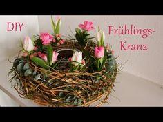 DIY | Frühlingskranz | schöne Tischdeko mit Naturmaterialien | Just Deko - YouTube