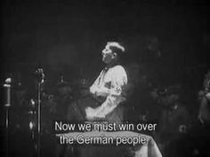 Small clip (1:06) of Hitler's speech after winning German elections. CC cycle 2, History week 17