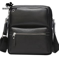 Special offer BISON DENIM genuine Leather Bag Black Business messenger bags man crossbody bags for men brand Designer ipad bag N2533 just only $49.98 with free shipping worldwide  #crossbodybagsformen Plese click on picture to see our special price for you