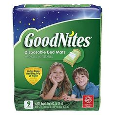 GoodNites Disposable Bed Mats 9 Count by GoodNites