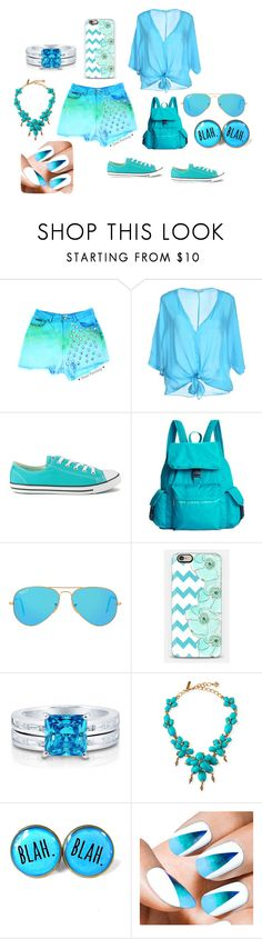 """lapracis"" by lapracis ❤ liked on Polyvore featuring Giorgia & Johns, Converse, LeSportsac, Ray-Ban, BERRICLE, Oscar de la Renta, Essie, women's clothing, women's fashion and women"