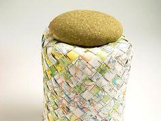 DIY Woven Map Basket