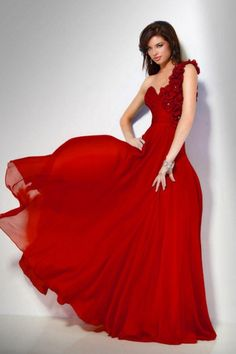 Jovani Chiffon Evening Dress with Rosettes 151627.  In Hunter Green