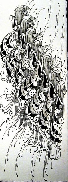 zentangled swirls by ledenzer, via Flickr  This is for all of us who have done doodle art forever....it now has a name?