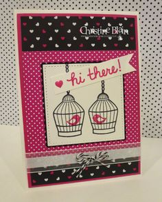 HAPPY HEART CARDS: STAMPIN' UP! BUILDER BIRDCAGE - POP OF PINK #2