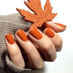 love this warm fall nail color! ~ we ❤ this! moncheriprom.com