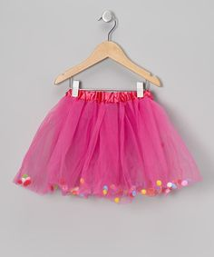Take a look at this Fuchsia Pom-Pom Tutu - Toddler & Girls on zulily today!