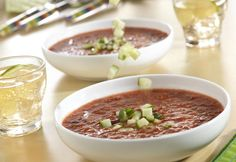 Chilled Picante Gazpacho You can serve this soup as a starter or as a light main dish--either way, it's refreshing, delicious and a snap to make.