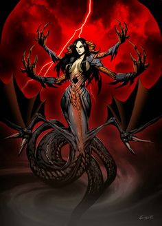 Ekhidna, mother of monsters. by Gonzalo Ordóñez Arias - demons, art, pics, pictures, images, hell - Art of Fantasy