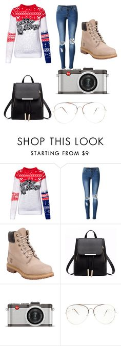 """Christmas party"" by alexandriamcbride on Polyvore featuring WithChic, Timberland and Leica"