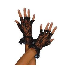 Fever Women's Fingerless Lace Gloves In Display Pack ($6.65) via Polyvore featuring accessories, gloves, fingerless gloves, lace fingerless gloves and lace gloves